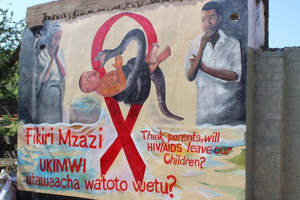 2a väggmålning om AIDS