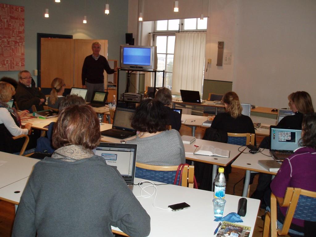 Foto från ett tidigare videoseminarium hos Janssons i Norrköping